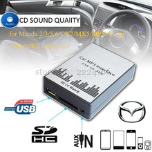 цена на USB SD AUX Car mp3 music player Adapter CD changer for Mazda 2 3 5 6 MX-5 RX-8 MPV interface auto parts