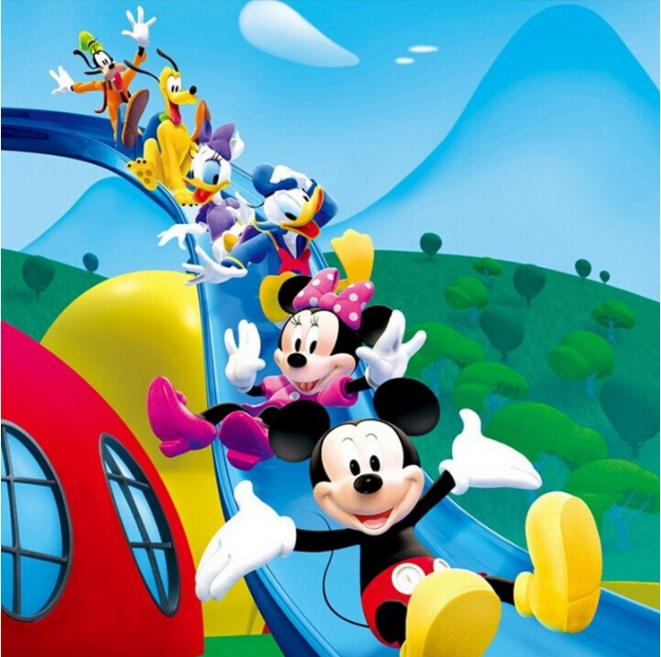 Us 3099 Free Shipping Children Bedroom Sofa Study Entertainment Hall Mural Wallpaper Cartoon Mickey Mouse Custom Size Wallpaper In Wallpapers From