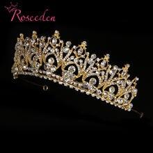 Тиары короны Стразы с кристаллами для невесты Свадебные аксессуары