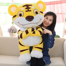 the king tiger in forest ,large 90cm Domineering & lovely cartoon tiger plush toy soft hugging pillow, birthday gift F052