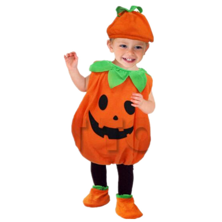 Image 2 - Halloween Party Costumes Toddler Baby Pumpkin Costume Cosplay for Baby Girl Boy Fancy Dress 80 150cm-in Game Costumes from Novelty & Special Use