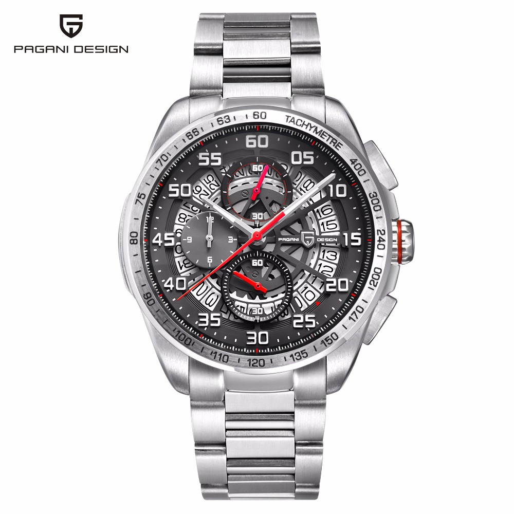 PAGANI DESIGN Fashion Business Mens Watches Top Brand Luxury Sport Waterproof Quartz Watch Men Chronograph Clock Reloj Hombre mens watches top brand luxury pagani design genuine leather quartz watch men outdoor sport chronograph reloj hombre wrist watch