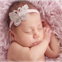 Boutique Handmade Butterfly Headbands Hair Band For Newborn Baby Children Girls Hair Accessories Headwraps