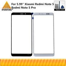 """מקורי Axisinternational 5.99 """"עבור Xiaomi Redmi הערה 5 Redmi הערה 5 פרו חיצוני חזית זכוכית מגע זכוכית מסך Digitizer + כלים"""