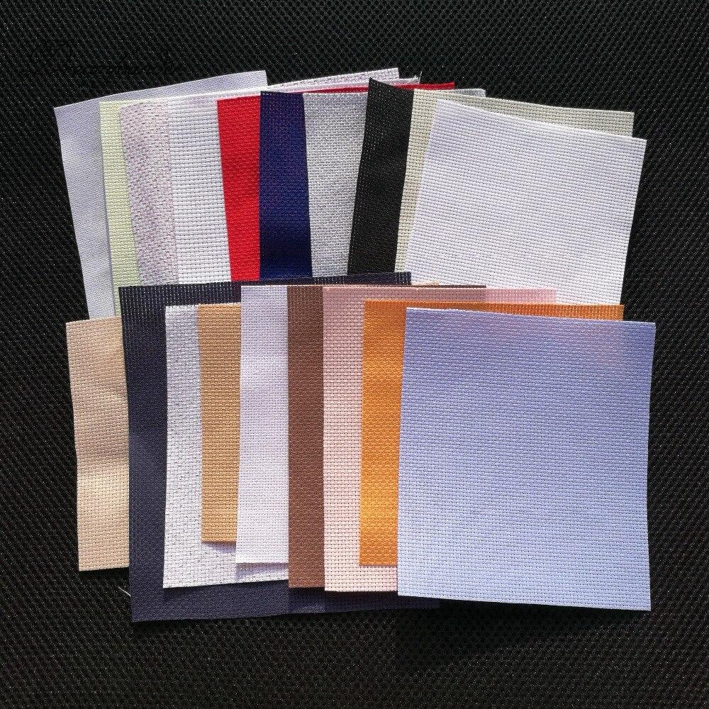 6 шт./лот больше 10x10 см случайное количество цветов размер Aida ткань для вышивки крестиком ткань холст для рукоделия шитье ручной работы oneroom
