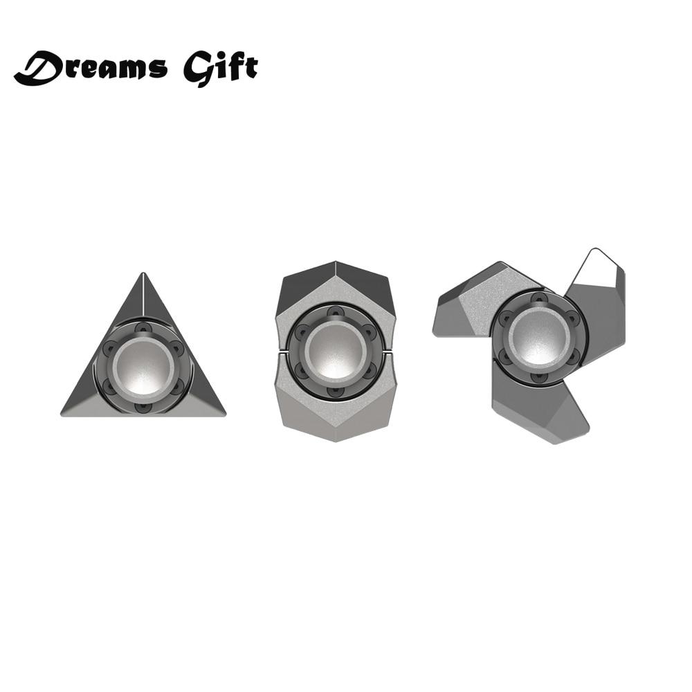 3/set DIY Fidget Spinner Hand Spinner Finger Spinner Metal Matte Black EDC Finger-spinner Handspinner Figet Spiner Toy SL537
