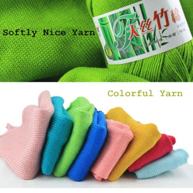 Grosshandel Farben Weiche Natur Glatt Bambus Baumwolle Strickgarn