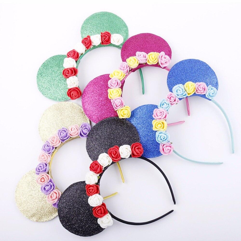 Hair Band Mini Mouse Animal Ears Flower Girl   Headwear   2018 Animal Ear Headpiece Bow Knot Birthday 0-8Years Baby Party Headband
