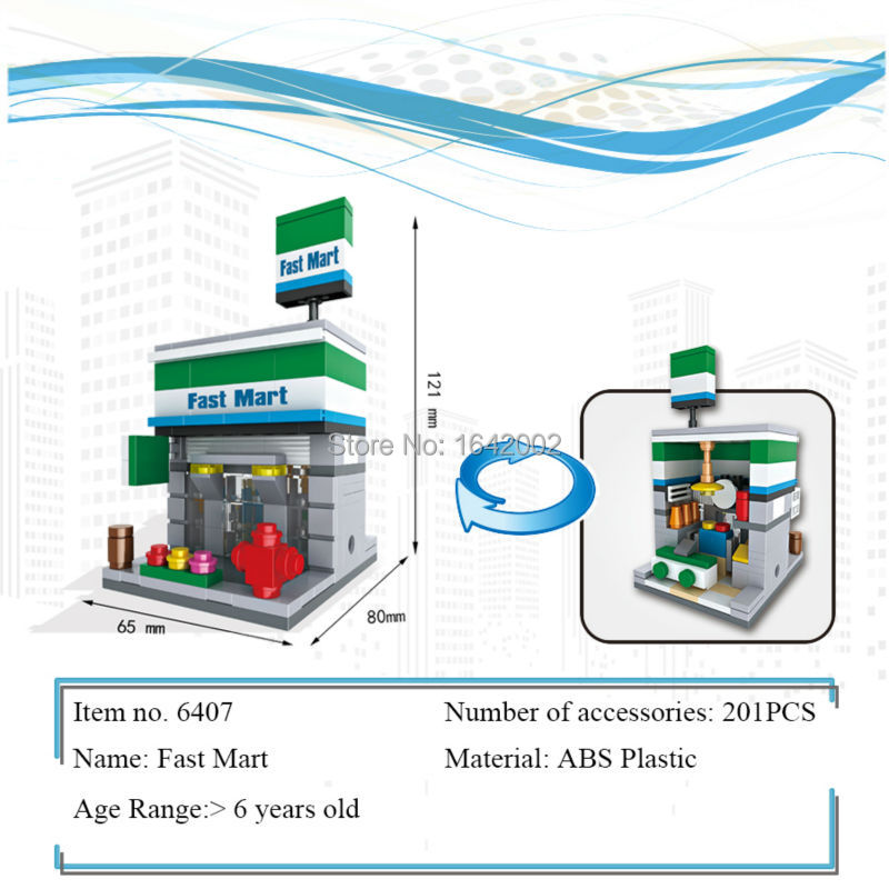 New City Series Mini Street Model Lepin Fast Mart's Building Blocks Toys for Kids Educational Birthday Christmas gifts brand new yuxin zhisheng huanglong high bright stickerless 9x9x9 speed magic cube puzzle game cubes educational toys for kids