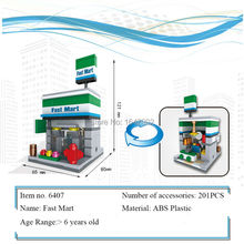 New City Series Mini Street Model Lepin Fast Mart's Building Blocks Toys for Kids Educational Birthday Christmas gifts