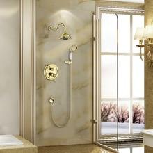 Бесплатная доставка becola ванная комната скрыта душа высокого качества золото и хром душевой гарнитур настенные B-2201