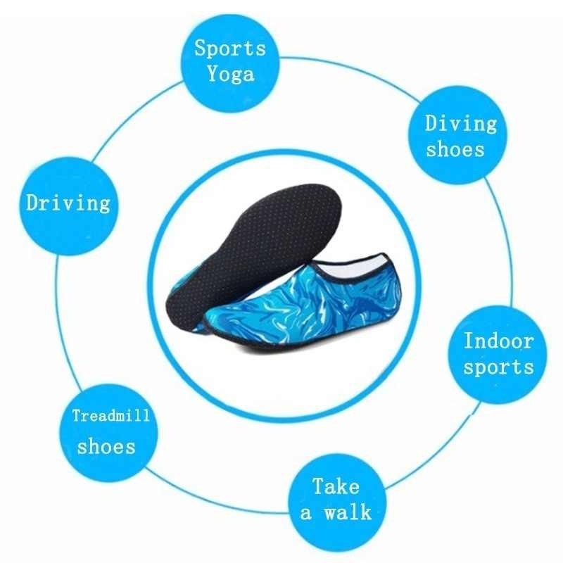 ว่ายน้ำAquaรองเท้าผู้ชายผู้หญิงรองเท้าUnisex Aquaรองเท้านุ่มเดินรองเท้าดำน้ำถุงเท้าลื่นรองเท้าผ้าใบseaรองเท้าแตะ