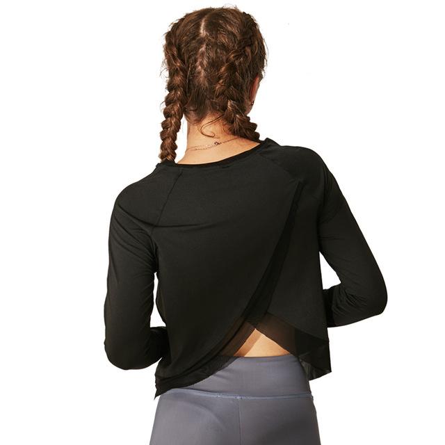 Women's Cross Wrap Back Yoga Sweater 2 Colors  S-L