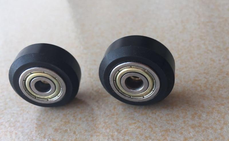 5Pcs/Slot CNC Wheel Pulleys Ball Bearing V Type CNC Wheel Bearing 3D Printer Parts Round Gear Perlin Part For 3D Ender-3 Parts