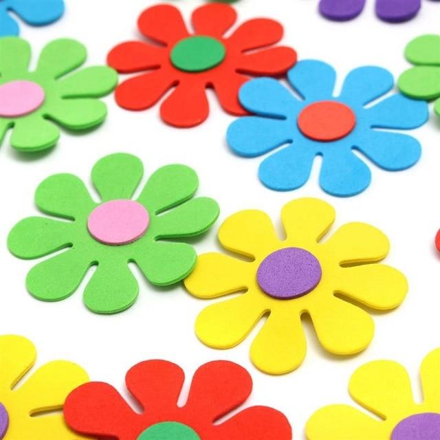 50pcs bag new eva foam flower shaped kid room kindergarten wall
