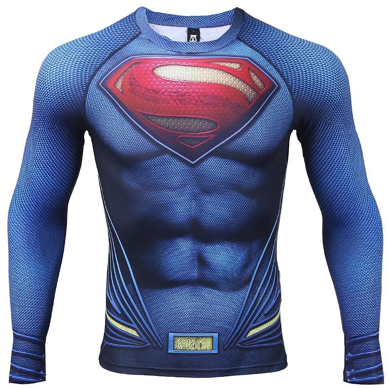 рубашка сжатия С 3D печатных футболки для мужчин реглан с длинными рукавами карнавальный костюм мужской топы корректирующие 2017 весна