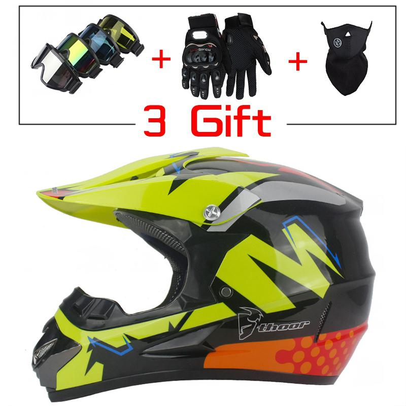 1set moto rcycle moto kreuz Off Road Helm mit Goggle Maske Handschuhe ATV Dirt Bike Racing Helm Männer/ frauen Racing Casque moto Casco