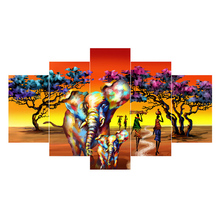 5pcs diy Diamond Painting Cross Stitch African elephant full square Diamond Mosaic beaded Embroidery Rhinestones H299 5pcs diy diamond painting cross stitch african elephant full square diamond mosaic beaded embroidery rhinestones h299