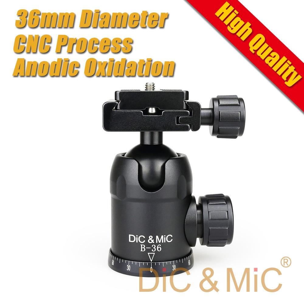 DiC & MiC Б-36 Черный штатив Камеры Шаровой головкой ballhead Quick release пластина/36 мм большой шар/Высокое качество/Панорамный фотографии