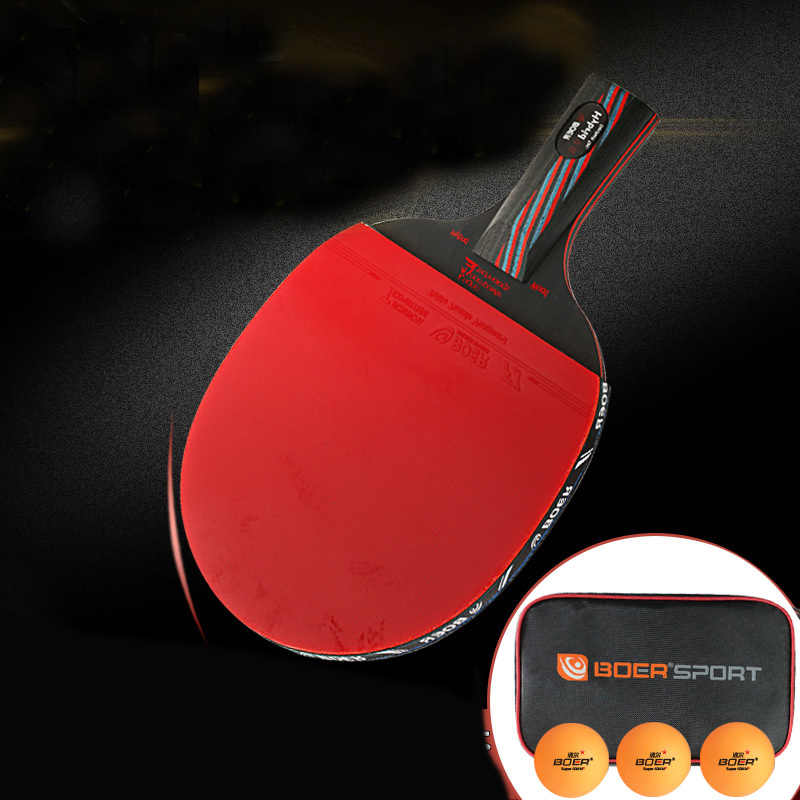 Competition High Level 9.8 Carbon Nanoscale WRB System Table Tennis Bat Racket Light Long Short Handle Ping Pong Paddle Racket