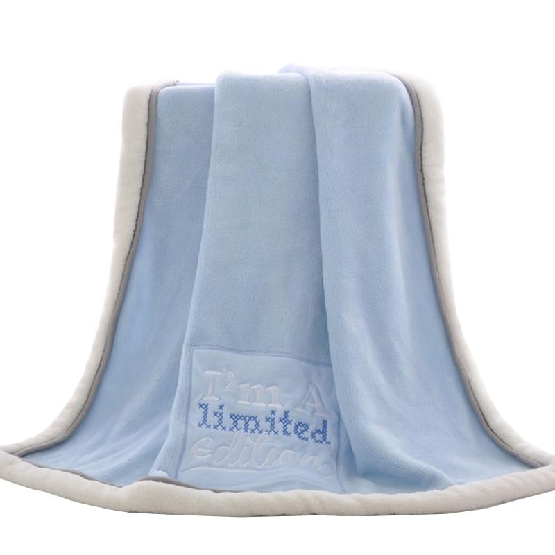 Baby Blankets Newborn Winter Thick Cartoon Coral Fleece Infant Swaddle Envelope Stroller Wrap super soft Warm kocyk dla dziecka