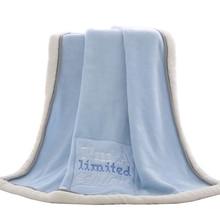 selimut bayi musim sejuk tebal kartun coral fleece infant swaddle bebe sampul surat balut kereta bayi untuk selimut bayi bayi yang baru lahir selimut