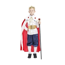 Kids Child Deluxe Lordliness Regal King Costume for Boys Fancy Halloween Purim Party Carnival Cosplay