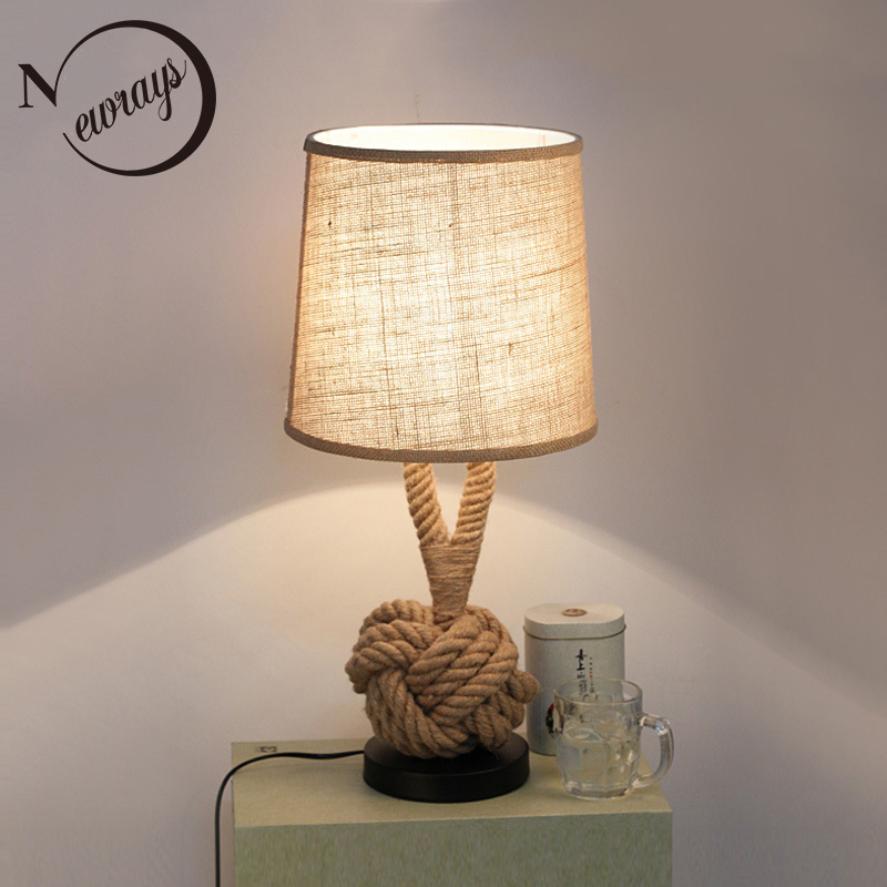 Countryside fabric iron table lamp modern creative desk lamp LED E27 for bedroom parlor lobby study cafe shop restaurant office nordic pendant lights simple creative office fast food restaurant bar counter table barber shop internet cafe study iron lamp