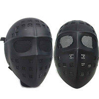 Full Face Hockey Goalie Type Airsoft Mesh Goggle Tactical Mask Dance Paintball Hunting Mask Protective Wear Goggles