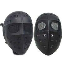 Tam Yüz Hokey Kaleci Tipi Airsoft Mesh Gözlüğü Taktik Maske Dans Paintball Avcılık Maskesi Koruyucu Aşınma Gözlük