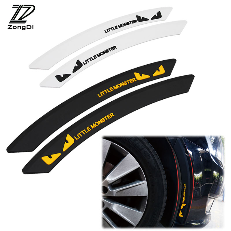 ZD 2pcs Car Wheel eyebrow For Ford Focus 2 3 Fiesta Mondeo Ranger Kuga Seat Leon Ibiza Decorative Anti-collision Strip Sticker ouzhi for ford focus 2 3 mondeo fiesta f150 orange brown brand designer luxury pu leather front