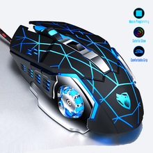 все цены на Professional Gaming Mouse 8D 3200DPI Optical Wired LED Computer Mice Gamer Mause USB Cable Silent Mouse for Laptop PC Game онлайн