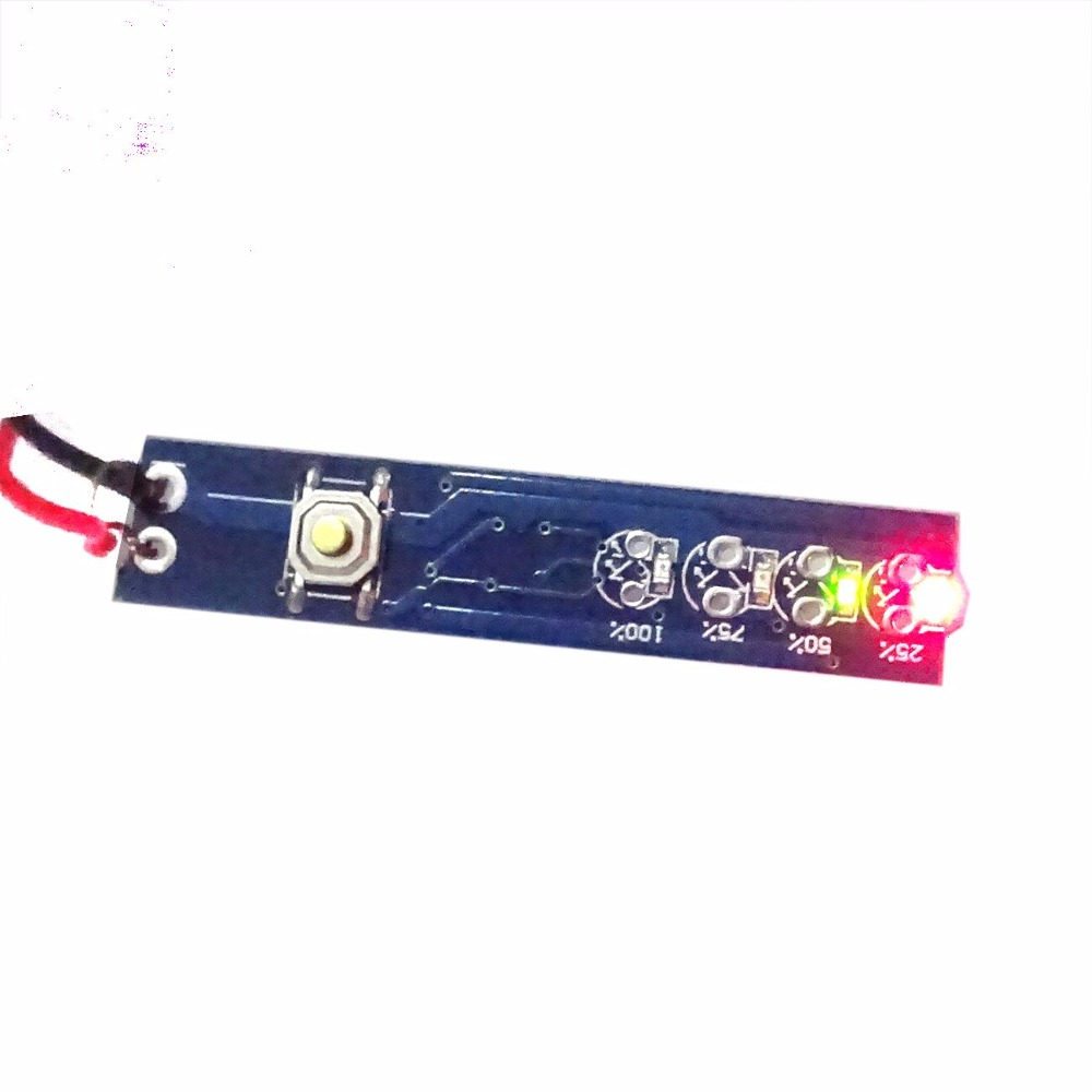 1S 2S 3S 4S 18650 Battery Power Indicator 3.7V-16.8V Power Indicator Panel Polymer Power Display