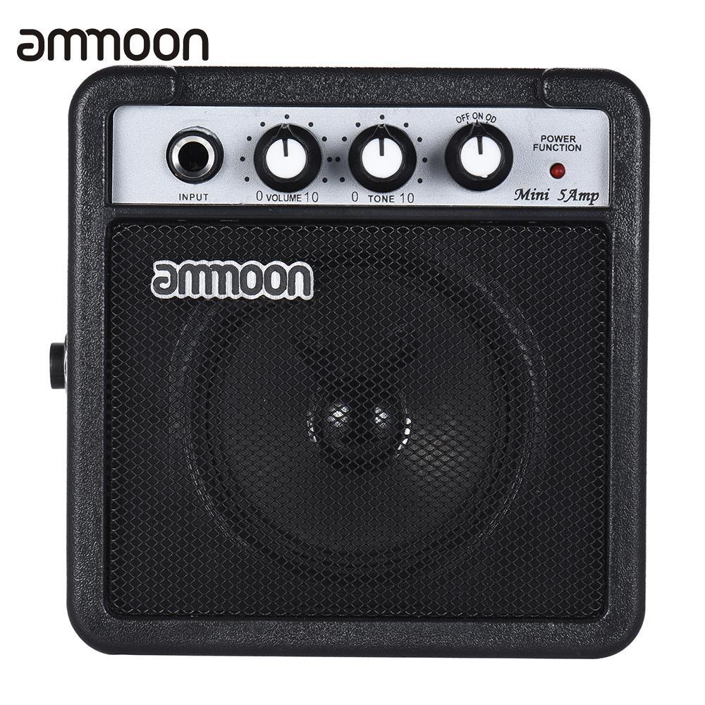 ammoon mini amplifier speaker 5 watt 9v battery powered amp for acoustic electric guitar. Black Bedroom Furniture Sets. Home Design Ideas