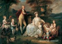 Портрет Картины холсте Фердинанд IV King Неаполя и его Семья Angelica Кауфман пейзажи ручная роспись высокое качество