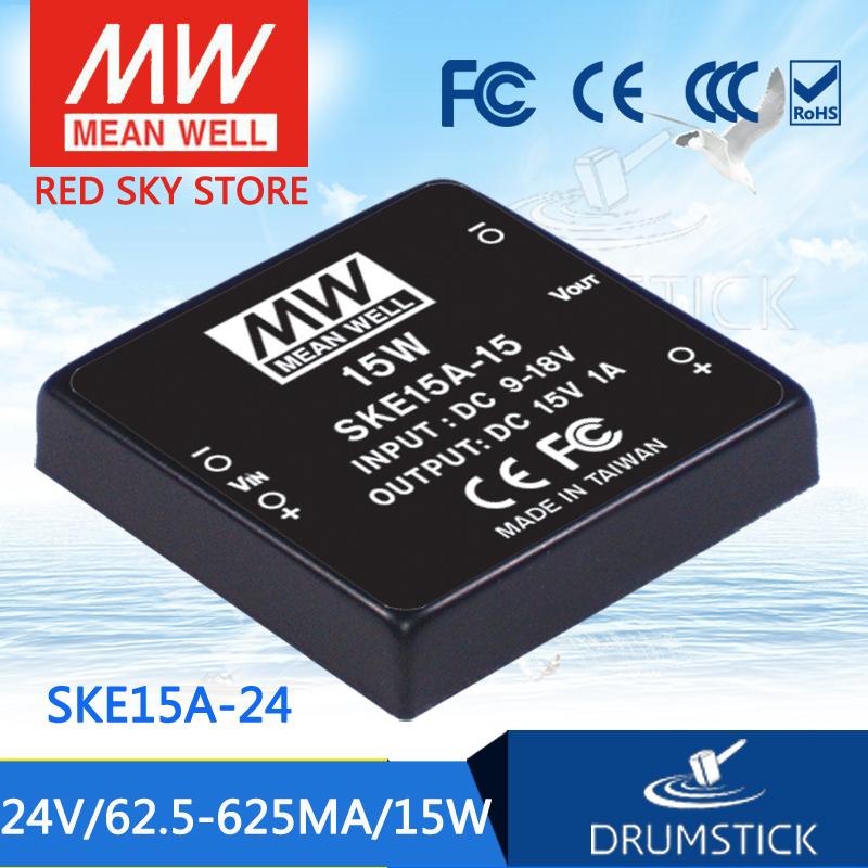 Advantages MEAN WELL SKE15A-24 24V 625mA meanwell SKE15 24V 15W DC-DC Regulated Single Output Converter