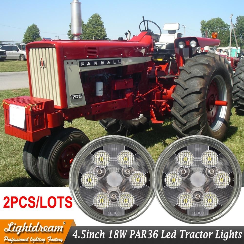 PAR36 LED Durable Flood Work Light Bulb 12V 24V Sealed beam Spot Trap beam used for NEW holland LED Cab Fender Hood Light x2pcs