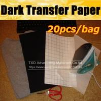 T shirt Dark Heat Transfer Paper 20sheets X A4 Iron On Inkjet T Shirt Heat Transfer Paper For Dark Fabric Cloth by free shipping