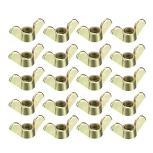 Uxcell New 20pcs/lot Furniture Hardwere Fasteners Parts Zinc Plated M4 M5 M6 M8 M10 Wing Nuts Butterfly Nut 2 Color Choose