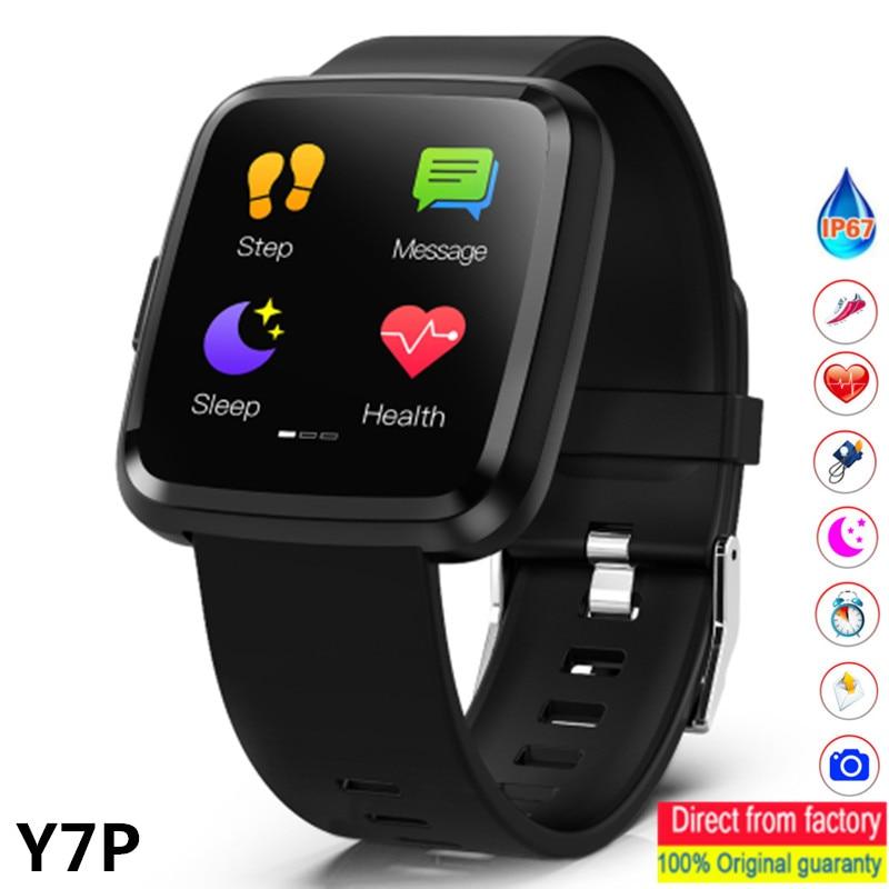 Y7P Smart Watch Men Woman Heart Rate Monitoring Sphygmomanometer Fitness Bracelet Waterproof  Watches Pedometer Smartwatch PK Y7