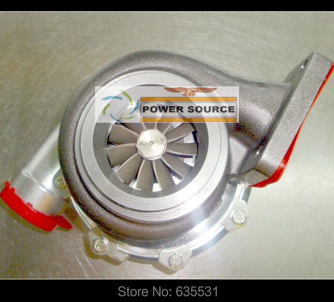 Turbo Turbine oil cooled Turbocharger T76 T4 Turbine AR .68 Comp AR 0.80 800HP-900HP Turbo charger - (5)
