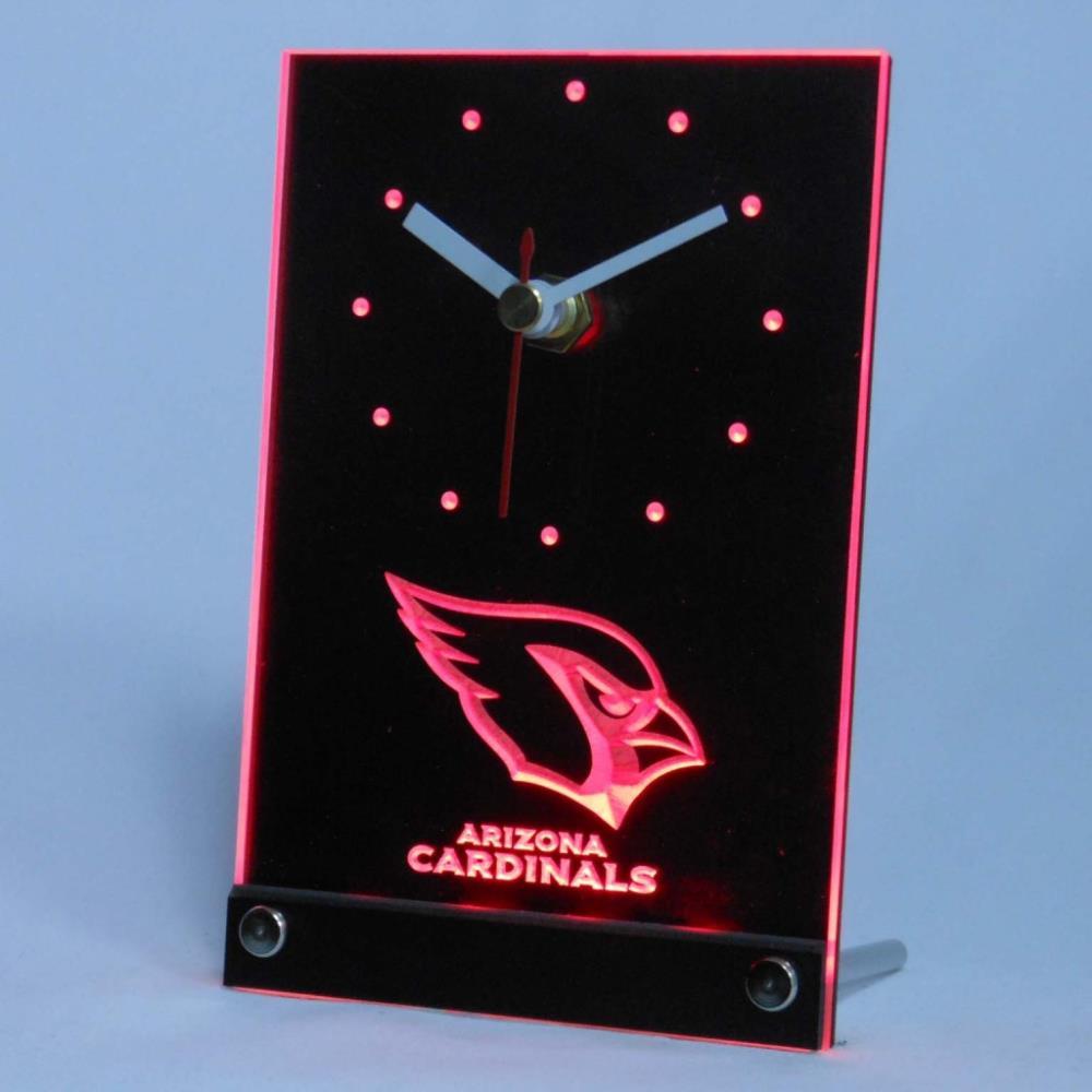 tnc0498 Arizona Cardinals Table Desk 3D LED Clock