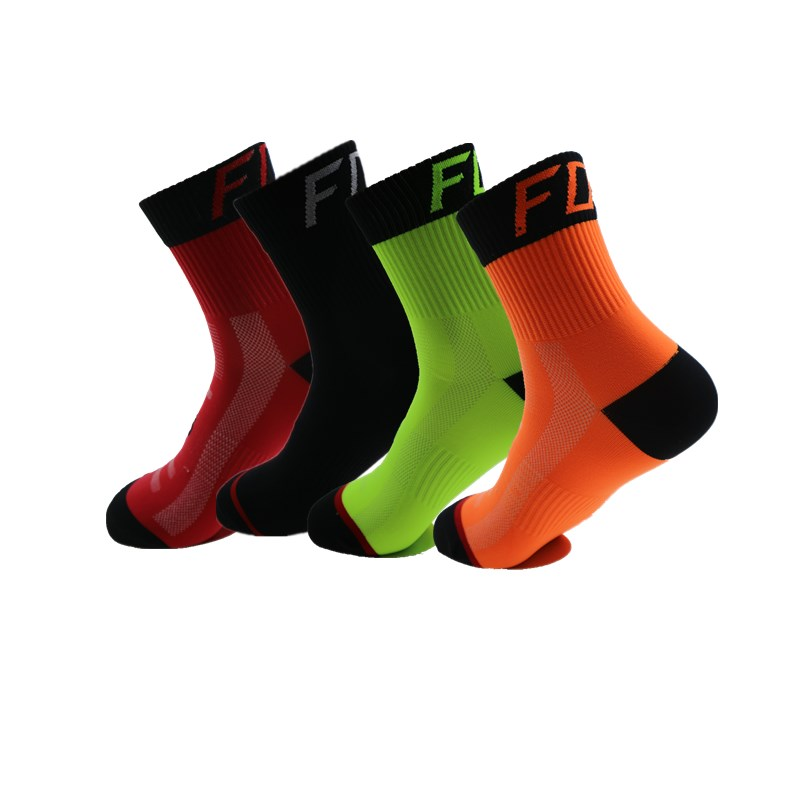 Women Men Sport Cycling Running Socks Breathable Outdoor Camping Hiking Basketball Socks Calcetines Deportivos 37-43