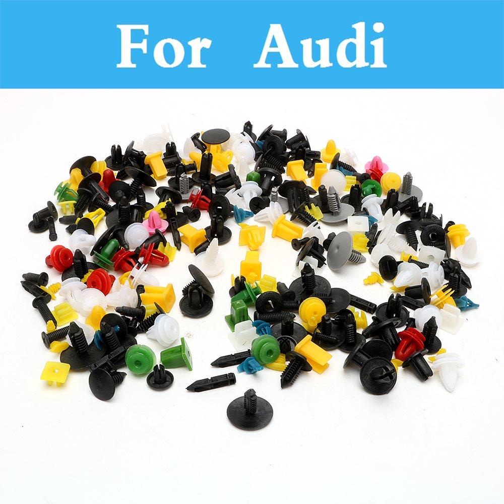 200pcs Car Cable Mount Clamp Clips Plastic Auto Fastener Mixed Wire Tie For Audi Q3 Q5 Q7 A3 A4 A5 A6 A7 A8
