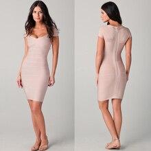 Verbandkleid, Figurbetontes Kleid Cocktailparty-kleid Nude HL338 # XS S M L