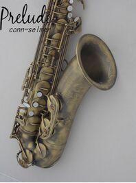 DHL free shipping Salma 54 B flat Baritone Saxophone tenor Sax shipping antique copper tenor saxophone free shipping selmer instrument saxophone wire drawing bronze copper 54 professional b mouthpiece sax saxophone