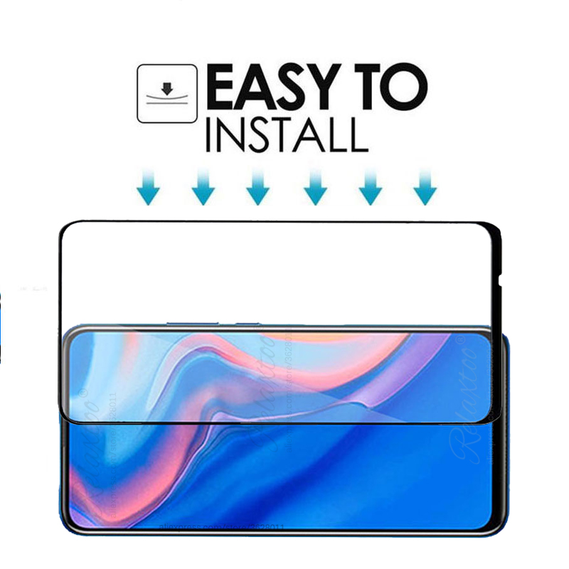Image 5 - 9D Full Cover Tempered Glass for Huawei P Smart Z screen protector For hauwei Y9 Prime P Smart 2019 psmartz Glas Protective film-in Phone Screen Protectors from Cellphones & Telecommunications