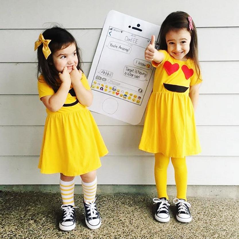 998a08f2f9 Buy emoji girls dress and get free shipping on AliExpress.com