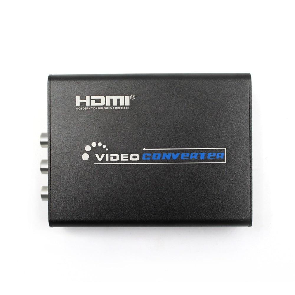 2Pcs/Lot HDMI to Composite / AV S-Video Converter RCA CVBS/L/R Video Converter Adapter PAL / NTSC CVBS / S-Video Switch 1080P