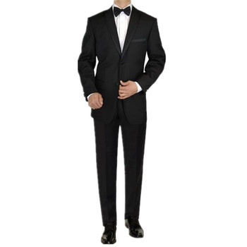 The groom suits tuxedos mens formal occasion suits tuxedos two button fashion pure color mens wedding suits(jacket+pants+bowtie)